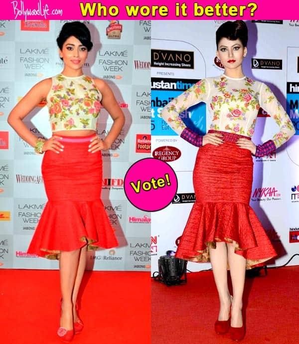Shriya Saran or Urvashi Rautela: Who rocks the Neha Agarwal outfit better?