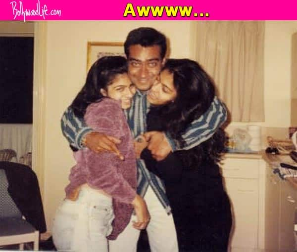 This cute pic of Ajay Devgn, Kajol and Tanishaa Mukerji cannot be missed!