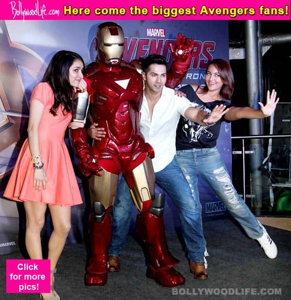ABCD 2 couple Varun Dhawan and Shraddha Kapoor host a screening of Avengers: Age of Ultron!