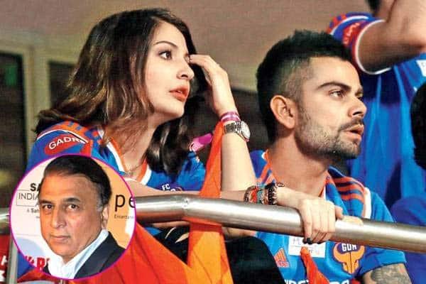 Sunil Gawaskar slammed for taking a dig at Virat Kohli and Anushka Sharma!