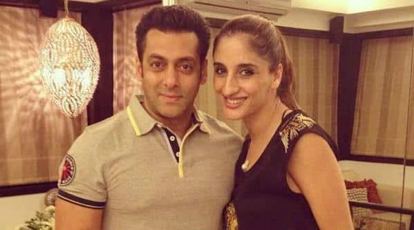 Salman Khan with Farah Ali Khan