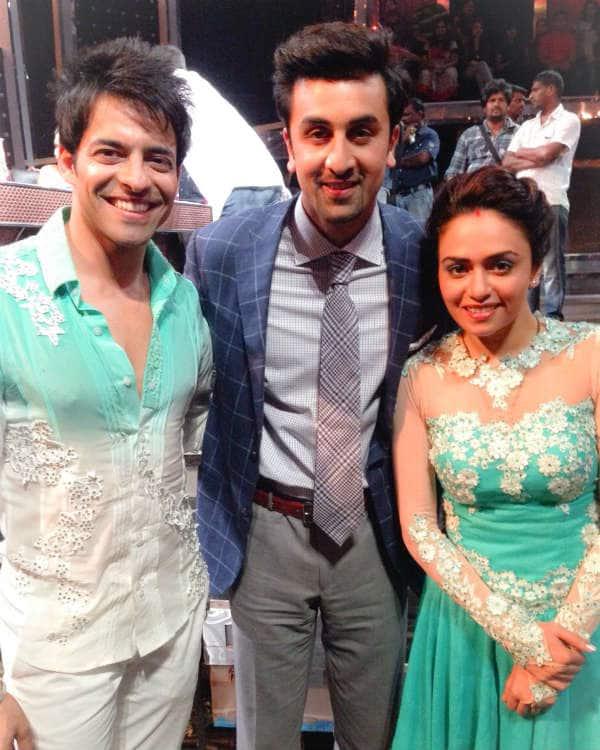 Nach Baliye 7: Ranbir Kapoor strikes a pose with Himmanshoo Malhotra and AmrutaKhanvilkar
