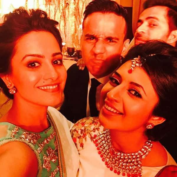 ... Anita Hassanandani from Karan Patel and Ankita Bhargava's wedding