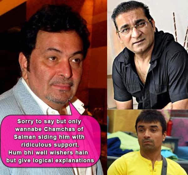 Rishi Kapoor slams Salman Khan's chamchas Abhijeet and Ajaz Khan