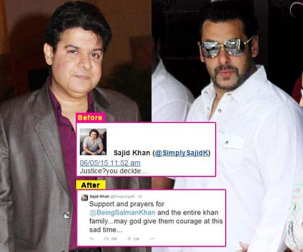Salman Khan hit-and-run case: Sajid Khan deletes tweet on the actor, changes words post verdict announcement!