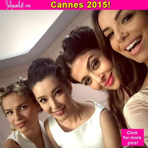 Cannes 2015: Aishwarya Rai Bachchan bonds with Eva Longoria at commercial shoot!