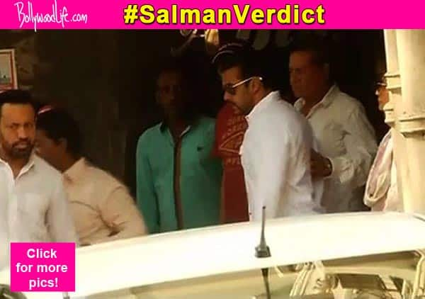 2002- hit-and-run case final verdict: Salman Khan hugs his father Salim Khan before leaving for the court – view pic!