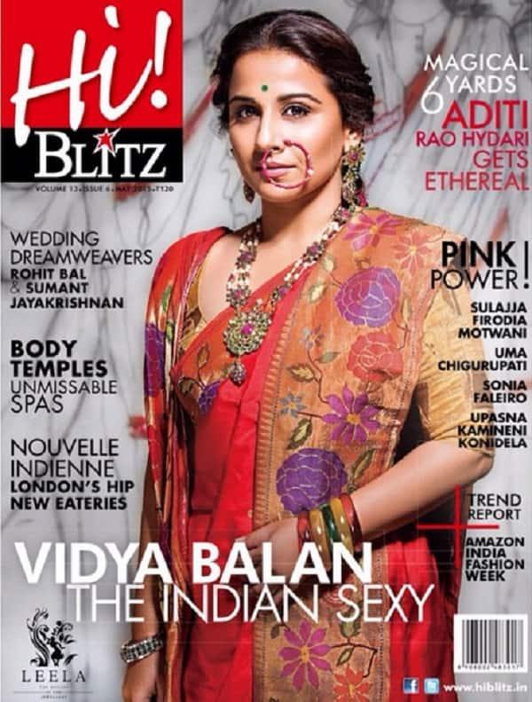 Vidya Balan's latest saree outing on a magazine cover- Yay or Nay?