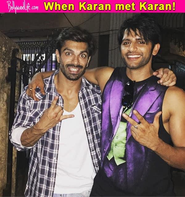 Qubool Hai boys Karanvir Bohra and Karan Singh Grover strike a pose – view pic!
