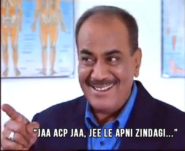 8 lol story of the day when bollywoodlife com grilled cid's acp,Acp Pradyuman Meme