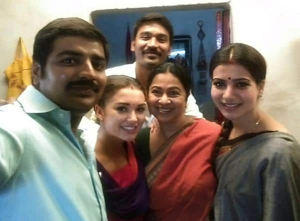 Dhanush, Samantha and Amy Jackson don traditional avatars for director Velraj's film – view pic!