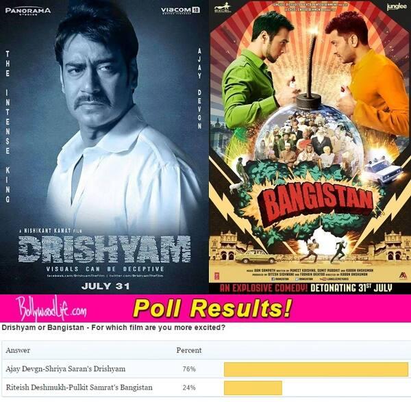 Fans Speak: Ajay Devgn-Shriya Saran's Drishyam a better watch than Riteish Deshmukh-Pulkit Samrat's Bangistan!