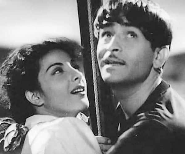 Nargis with Raj Kapoor in Awara