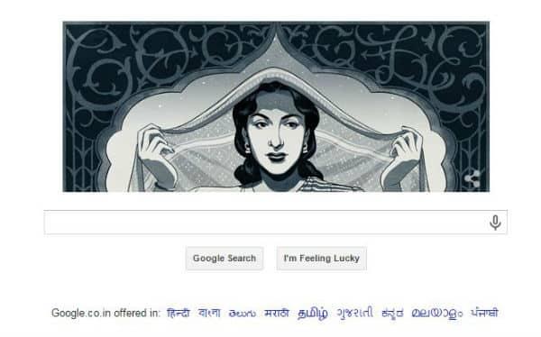 Google Doodle celebrates Nargis Dutt's birth anniversary!