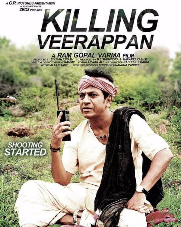 Ram Gopal Varma busy with the shooting of Shivarajkumar's Killing Veerappan