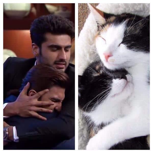 Ranveer Singh shares his kitten love for Arjun Kapoor on his birthday – view pic!