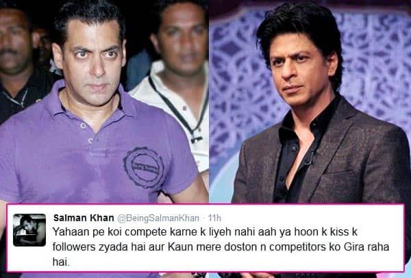 Oh My God! Salman Khan ready to quit Twitter for Shah Rukh Khan's sake