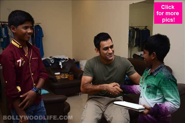 Dhanush's Kaakka Mutthai child artists meet MS Dhoni – view pics!
