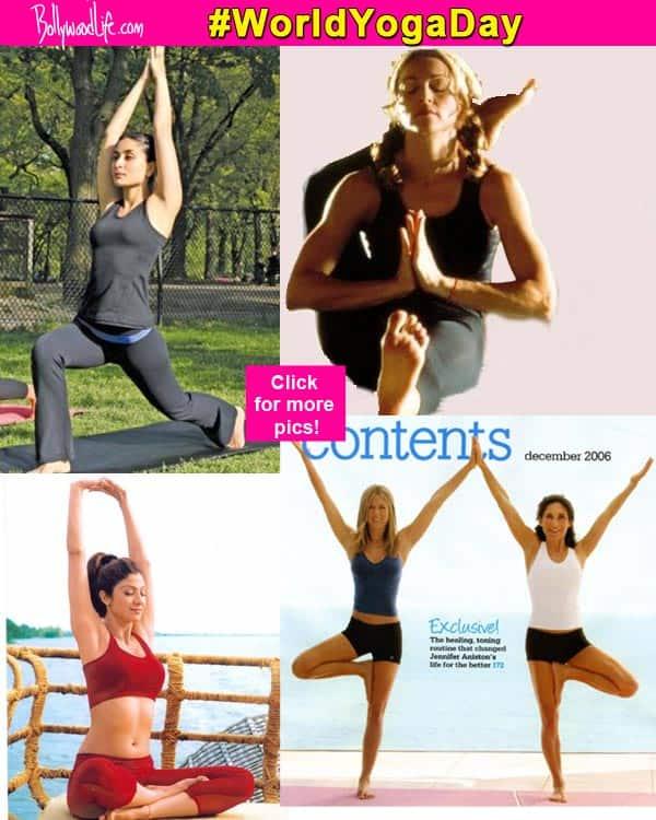 World Yoga Day 2015 Ranbir Kapoor Jennifer Aniston Shilpa Shetty And Madonna