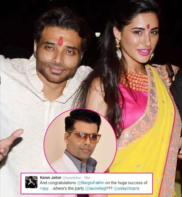 Karan johar confirms uday chopra and nargis fakhri 39 s for Roohi bano husband name