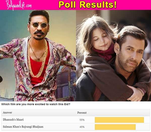 Dhanush beats Salman Khan! Fans want to watch Maari more than Bajrangi Bhaijaan!