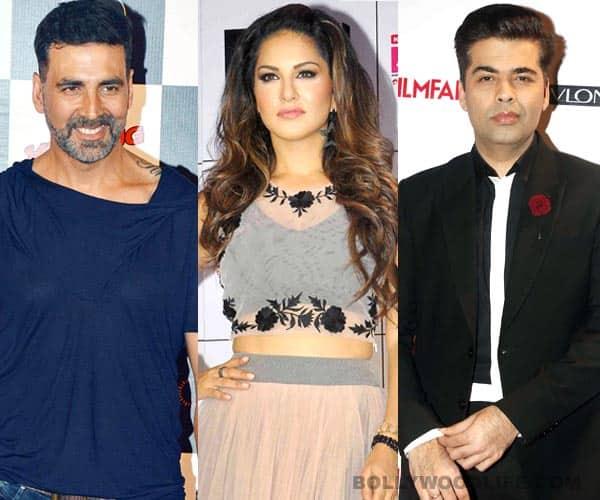 Is Sunny Leone trying really hard to impress Akshay Kumar and Karan Johar?