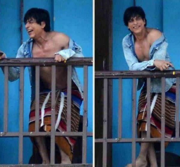 Shahrukh-KHan-on-hte-sets-of-fan-4