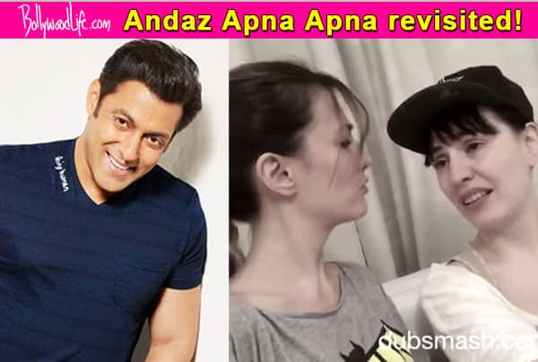 Salman Khan, leave everything and watch this awesome Andaz Apna Apna Dubsmash video by two foreigners!