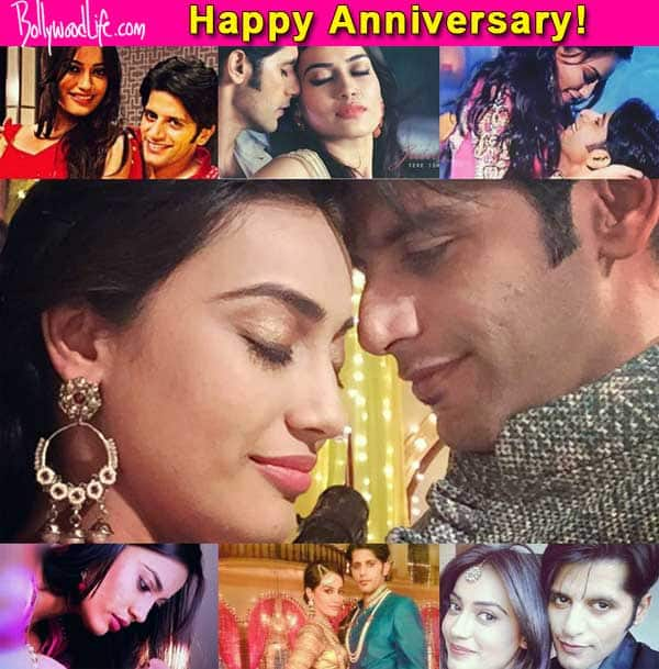 Qubool Hai sweethearts Aahil and Sanam celebrate their first anniversary – view pics!