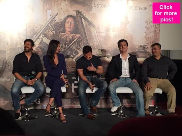 Saif Ali Khan and Katrina Kaif snapped at the trailer launch of Kabir Khan's Phantom – view pics!