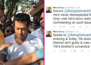 Milind Deora comes out in support of Salman Khan?