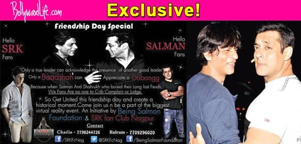 Warring Salman and Shah Rukh Khan fans to make peace in the virtual world!