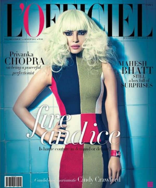 WHOA! Priyanka Chopra channels her inner Lady Gaga for this magazine cover!