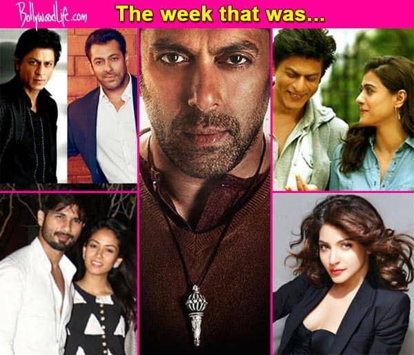 Salman Khan's Bajrangi Bhaijaan to break Dhoom 3's records, Shahid Kapoor – Mira Rajput's TV debut, Shah Rukh Khan – Kajol unsure about their chemistry – top news makers of the week!