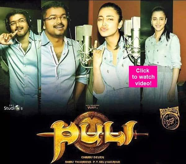 Shruti Haasan croons Yaendi Yaendi for Vijay's Puli – watchvideo!