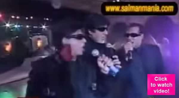 Drop everything and watch Salman Khan, Shah Rukh Khan and Amitabh Bachchan's KICKASS singing performance!