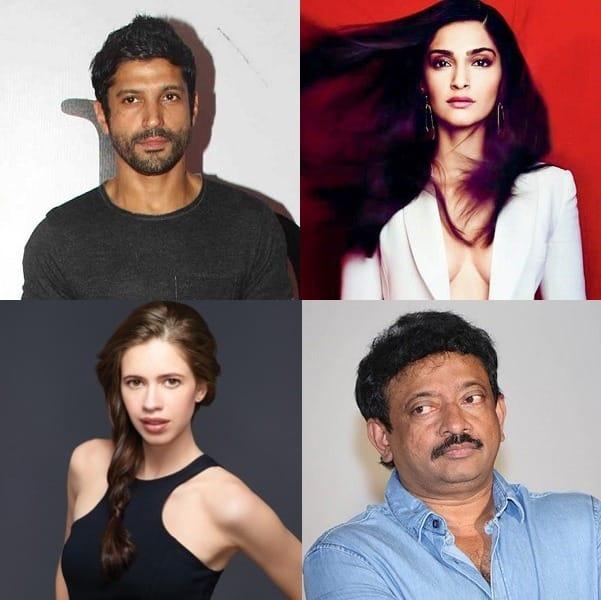 Farhan Akthar, Sonam Kapoor, Kalki Koechlin and Ram Gopal Varma raise their views against porn ban!