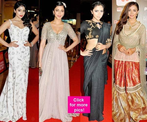 SIIMA 2015: Shriya Saran, Kriti Sanon, Shruti Haasan, Amy Jackson and Amala Paul look gorgeous at the red carpet – view pics!