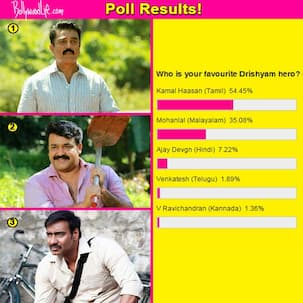 Kamal Haasan beats Mohanlal and Ajay Devgn to become the most favourite Drishyam hero!