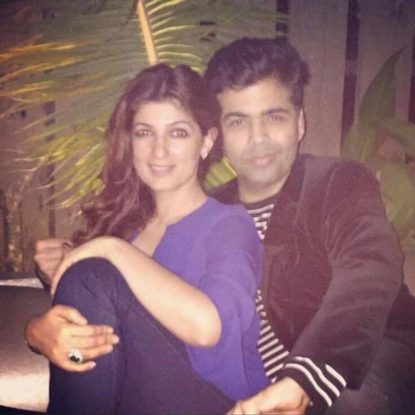 Image result for twinkle khanna and karan johar