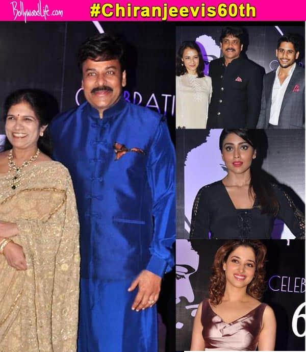 Chiranjeevi 60th birthday: Nagarjuna, Shriya Saran, Tamannaah, Ravi Teja, attend the gala birthday party!