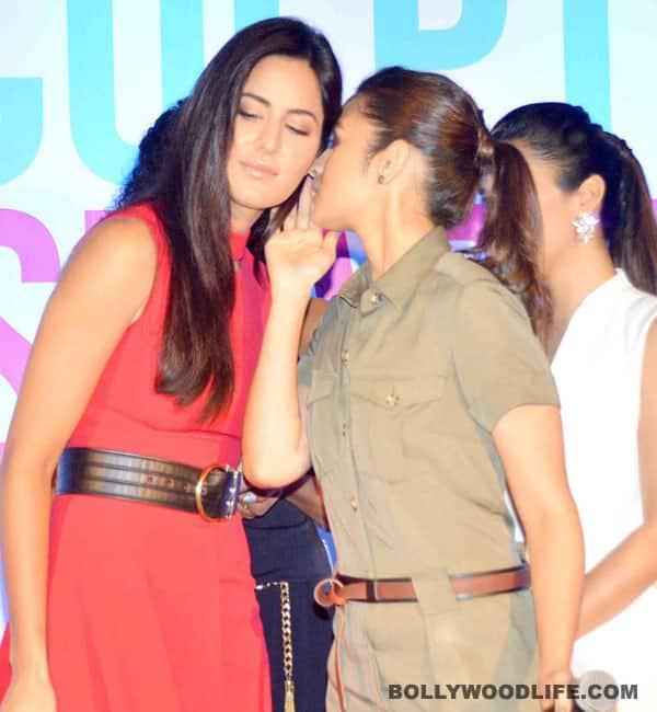 What is Alia Bhatt whispering into Katrina Kaif's ears? Watch video
