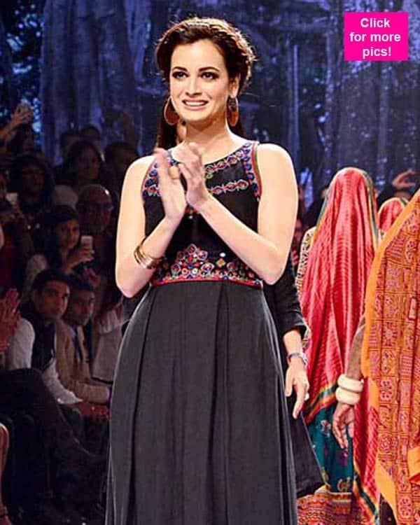 Lakme Fashion Week 2015: Dia Mirza walks for Anita Dongre – watch video!