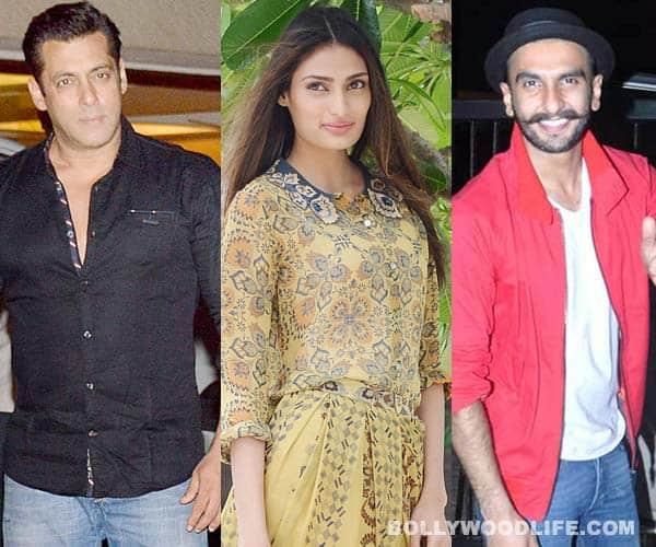 Sorry Salman Khan, Athiya Shetty is a HUGE fan of Ranveer Singh!