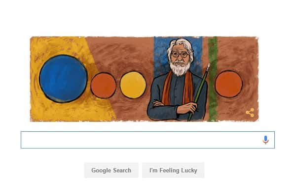 Today's Google doodle is a touching tribute to M.F. Husain!