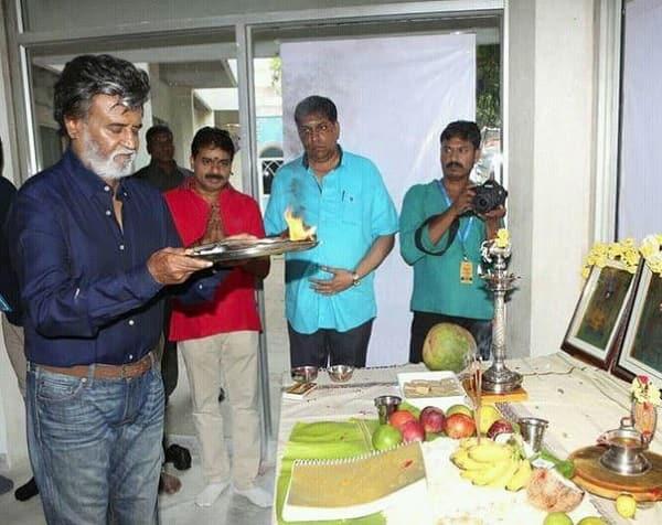 Rajinikanth starts shooting for Kabali in Chennai – view pic!