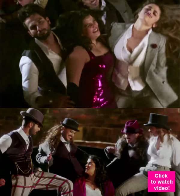 Alia Bhatt and Shahid Kapoor go CRAZY while shooting Gulaabo from Shaandaar – watch video!