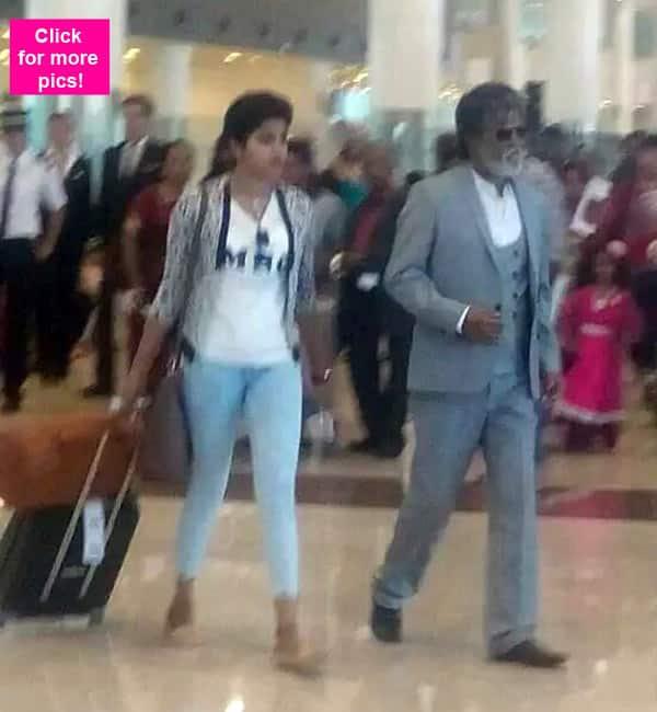 Rajinikanth shoots for Kabali at Chennai airport – view pics!