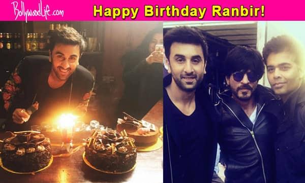 Shah Rukh Khan and Karan Johar bring in Ranbir Kapoor's birthday in London – view pics!