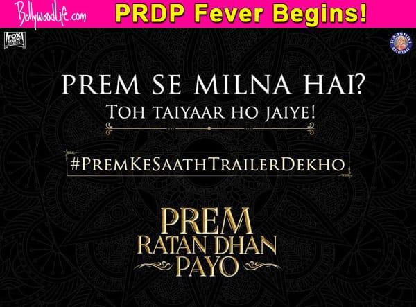 #TrailerDekhoPremKeSaath! Salman Khan's special treat for fans on October 1 – view pic!